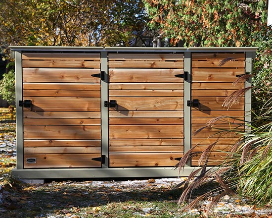Shed for green bins