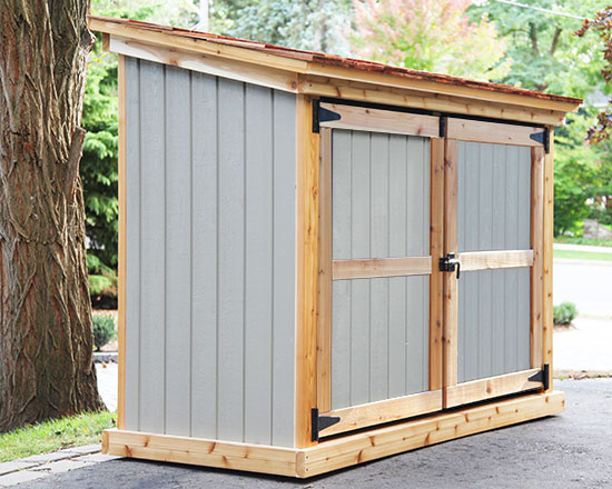 Shed for bikes