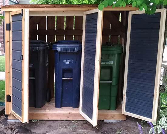 Shed for medium bins